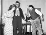 Cast members of the play