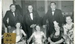 Members at a Dinner Dance in the Cliff Hotel. Gorleston