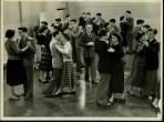 Young members taking part in the weekly ballroom dancing class in the Theatre