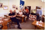 Archive group members enjoying refreshments in the new community cafe