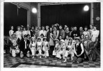 The cast of Goody Two Shoes at a rehersal
