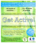 Advert for Get Active, a more recent event at the centre