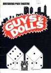 Programme for musical  Guys and Dolls