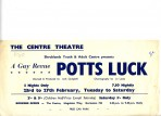 Advertising flyer for the revue Potts Luck