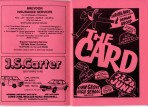 Programme for the musical The Card