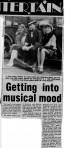Newspaper cutting about musical Guys & Dolls
